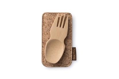 Obrázok pre výrobcu Bambusová lyžičkovidlička mini - v korku
