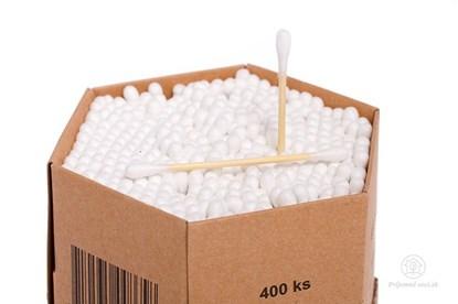 Obrázok pre výrobcu Vatové tyčinky z bambusu - XXL (400ks)