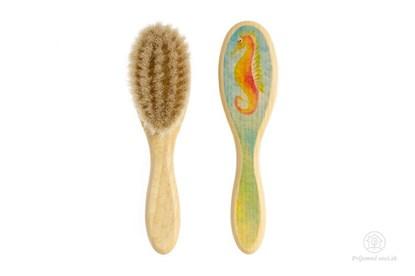 Obrázok pre výrobcu Kefka na vlasy pre novorodencov - morský koník