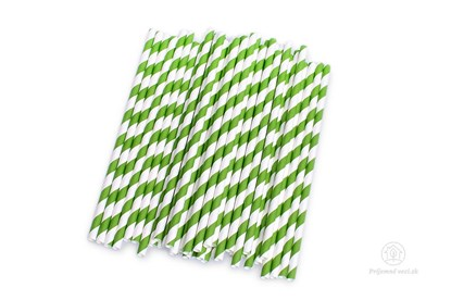 Obrázok pre výrobcu Papierová slamka - zelená (600 ks)