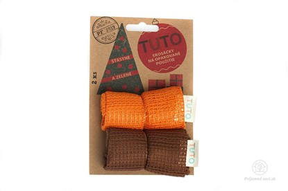Obrázok pre výrobcu Sieťové vrecká na potraviny TUTO - hnedo-oranžové