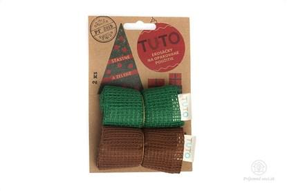 Obrázok pre výrobcu Sieťové vrecká na potraviny TUTO - zeleno-hnedé