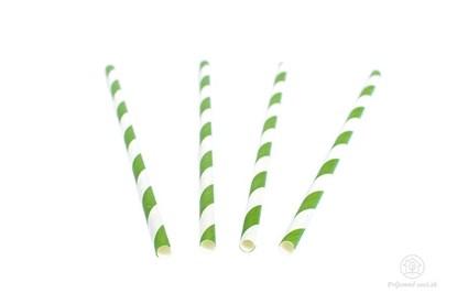 Obrázok pre výrobcu Papierová slamka - zelená (40 ks)