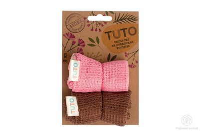 Obrázok pre výrobcu Sieťové vrecká na potraviny TUTO - ružovo-hnedé