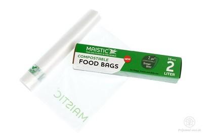 Obrázok pre výrobcu Kompostovateľné vrecká na potraviny 2l (30ks)