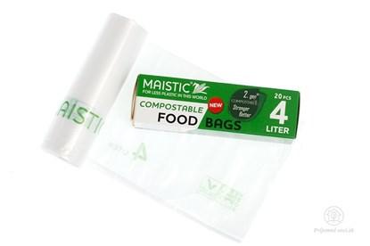 Obrázok pre výrobcu Kompostovateľné vrecká na potraviny 4l (20ks)