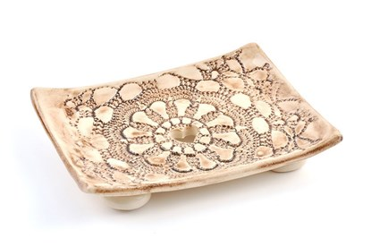 Obrázok pre výrobcu Keramická mydelnička - čipka