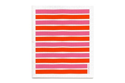 Obrázok pre výrobcu Hubka - pásiky oranžovo-ružové