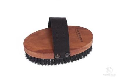 Obrázok pre výrobcu Hrušková masážna kefa s popruhom - čierne štetiny