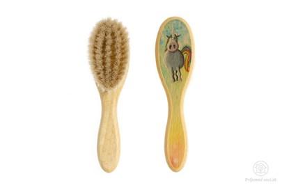 Obrázok pre výrobcu Kefka na vlasy pre novorodencov - jednorožec