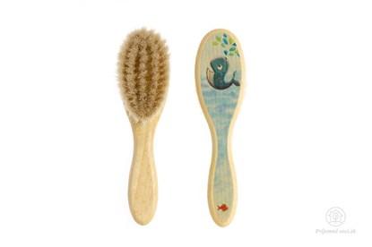 Obrázok pre výrobcu Kefka na vlasy pre novorodencov - veľryba