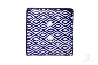 Obrázok pre výrobcu Keramická mydelnička štvorcová - vlnky