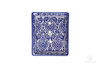 Obrázok pre výrobcu Keramická mydelnička obdĺžniková - reliéf