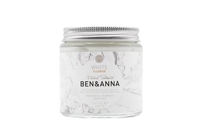 Obrázok pre výrobcu Prírodná zubná pasta BEN&ANNA v skle 100ml - biela s fluoridom