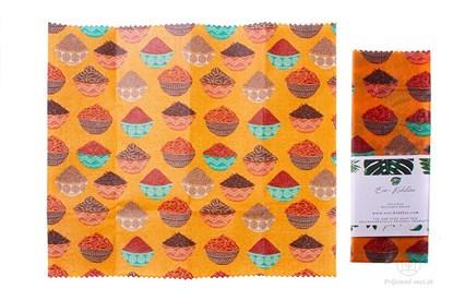 Obrázok pre výrobcu Vegan voskovaný obrúsok malý -korenie