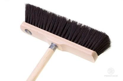 Obrázok pre výrobcu Drevená metla s konským vlasom - prírodná farba