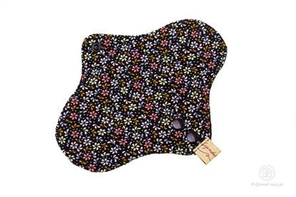 Obrázok pre výrobcu Slipová vložka - čierna (kvetinky)
